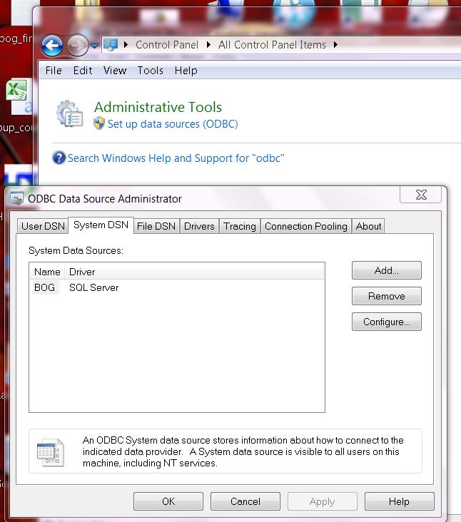 ODBC Configuration